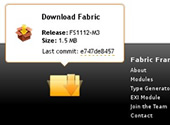 Fabric Download Popup